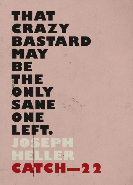 Book Cover Design Quote : Catch by joseph heller